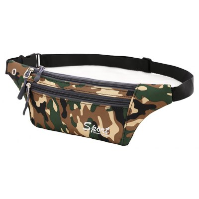 Dark Green Camouflage Outdoor Sporting Casual Waist Pack Bag