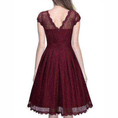 Round Led Lace Perspective DressWomens Dresses<br>Round Led Lace Perspective Dress<br><br>Dresses Length: Knee-Length<br>Elasticity: Micro-elastic<br>Embellishment: Lace<br>Fabric Type: Lace<br>Material: Polyester<br>Neckline: Round Collar<br>Package Contents: 1 x Dress<br>Pattern Type: Solid<br>Season: Summer<br>Silhouette: A-Line<br>Sleeve Length: Sleeveless<br>Style: Sexy &amp; Club<br>Waist: Natural<br>Weight: 0.3000kg<br>With Belt: No