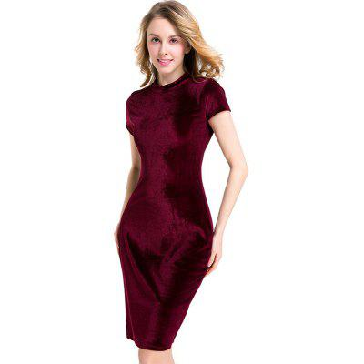 Pure Color Round Neck Velvet DressMini Dresses<br>Pure Color Round Neck Velvet Dress<br><br>Dresses Length: Knee-Length<br>Elasticity: Micro-elastic<br>Fabric Type: Velour<br>Material: Polyester<br>Neckline: Round Collar<br>Package Contents: 1 x Dress<br>Pattern Type: Solid<br>Season: Summer<br>Silhouette: Sheath<br>Sleeve Length: Short Sleeves<br>Style: Sexy &amp; Club<br>Waist: Natural<br>Weight: 0.2000kg<br>With Belt: No