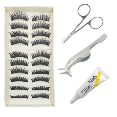 4 in 1 Black Thick  False Eyelash Kit Suit