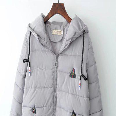 New Women Hooded Cap Back Pocket Decoration Cotton GarmentJackets &amp; Coats<br>New Women Hooded Cap Back Pocket Decoration Cotton Garment<br><br>Closure Type: Zipper<br>Clothes Type: Jackets<br>Collar: Hooded<br>Elasticity: Elastic<br>Embellishment: Patch Designs<br>Fabric Type: Worsted<br>Material: Acetate<br>Package Contents: 1 x Coat<br>Pattern Type: Others<br>Shirt Length: Regular<br>Sleeve Length: Full<br>Style: Fashion<br>Type: Slim<br>Weight: 0.3000kg<br>With Fur Collar: No
