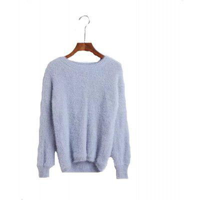 New Woman Sable Cloth with Soft Nap Round Collar Sweater