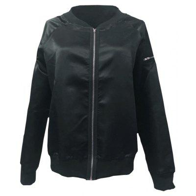 Fashion Trend Character Short CoatJackets &amp; Coats<br>Fashion Trend Character Short Coat<br><br>Closure Type: Zipper<br>Clothes Type: Jackets<br>Collar: Collarless<br>Elasticity: Micro-elastic<br>Embellishment: Zippers<br>Fabric Type: Oxford<br>Material: Spandex, Polyester, Nylon<br>Package Contents: 1 x Coat<br>Pattern Type: Solid<br>Shirt Length: Regular<br>Sleeve Length: Full<br>Style: Fashion<br>Type: Slim<br>Weight: 0.2200kg