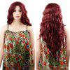 Women Long Wavy Curly Wig for Cosplay, Party - RED