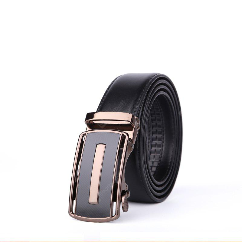 Genuine Leather Belt for Men with Automatic Buckle