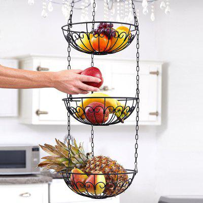 3   Tier Wire Hanging Basket Fruit Vegetable Basket ...