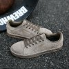 Moda Men Walking Hip Hop Leisure Shoes Masculino Breathable Walking Casual Sneakers - CASTANHO