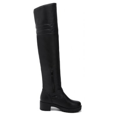 Round with Rough Fashion with Knee BootsWomens Boots<br>Round with Rough Fashion with Knee Boots<br><br>Boot Height: Over-the-Knee<br>Boot Type: Fashion Boots<br>Closure Type: Zip<br>Gender: For Women<br>Heel Height Range: Med(1.75-2.75)<br>Heel Type: Chunky Heel<br>Insole Material: PU<br>Lining Material: Lycra<br>Package Contents: 1xShoes?pair?<br>Pattern Type: Solid<br>Platform Height: 2<br>Season: Winter<br>Shoe Width: Medium(B/M)<br>Toe Shape: Round Toe<br>Upper Material: PU<br>Weight: 1.0400kg
