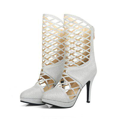 Pointed Stiletto Boots Sexy Hollow Out BootsWomens Boots<br>Pointed Stiletto Boots Sexy Hollow Out Boots<br><br>Boot Height: Mid-Calf<br>Boot Type: Fashion Boots<br>Closure Type: Zip<br>Gender: For Women<br>Heel Height Range: Super High(Above4)<br>Heel Type: Stiletto Heel<br>Insole Material: PU<br>Lining Material: PU<br>Package Contents: 1xShoes?pair?<br>Pattern Type: Solid<br>Platform Height: 2<br>Season: Spring/Fall<br>Shoe Width: Medium(B/M)<br>Toe Shape: Pointed Toe<br>Upper Material: Microfiber<br>Weight: 0.8600kg