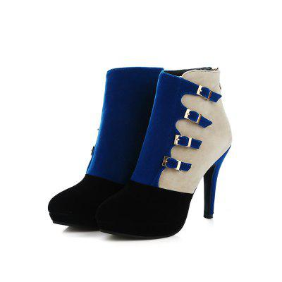 Stiletto Heel High Heel Short BootsWomens Boots<br>Stiletto Heel High Heel Short Boots<br><br>Boot Height: Ankle<br>Boot Type: Fashion Boots<br>Closure Type: Zip<br>Gender: For Women<br>Heel Height Range: High(3-3.99)<br>Heel Type: Stiletto Heel<br>Insole Material: PU<br>Lining Material: Lycra<br>Package Contents: 1xShoes?pair?<br>Pattern Type: Solid<br>Platform Height: 2<br>Season: Winter<br>Shoe Width: Medium(B/M)<br>Toe Shape: Round Toe<br>Upper Material: Microfiber<br>Weight: 0.8400kg