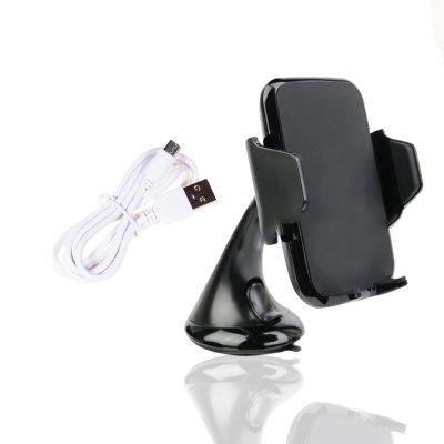 Vehicle Mounted Mobile Phone Bracket Phone Wireless ChargerCar Charger<br>Vehicle Mounted Mobile Phone Bracket Phone Wireless Charger<br><br>Color: Black<br>Input ( Car Charger ): 5V - 2A / 9V - 1.65A<br>Material ( Cable&amp;Adapter): ABS<br>Output ( Car Charger ): 5V - 1A / 5V - 2A<br>Package Contents: 1 x Car Wireless Charger, 1 x Cable<br>Package size (L x W x H): 17.50 x 10.00 x 7.50 cm / 6.89 x 3.94 x 2.95 inches<br>Package weight: 0.1500 kg<br>Product size (L x W x H): 17.00 x 9.80 x 7.00 cm / 6.69 x 3.86 x 2.76 inches<br>Product weight: 0.1400 kg<br>Working Temp.(?): 0 - 60Deg.C