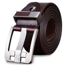HAUT TON Top Classic Jean Style Genuine Leather Belt for Men