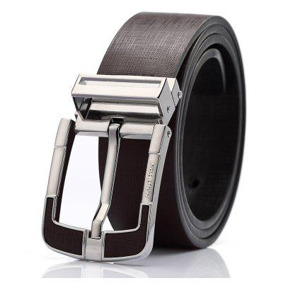 HAUTTON Men's Casual Jean Style Genuine Leather Belt