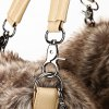 New Ladies Rivet Handbag Winter Warm Plush Fashion Trend Borsa a tracolla - CACHI