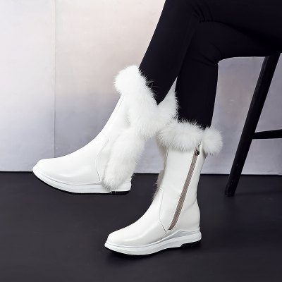 New Style Leisure School Wind Flat Bottom Snow Boots Female Low Heel Middle Canister BootsWomens Boots<br>New Style Leisure School Wind Flat Bottom Snow Boots Female Low Heel Middle Canister Boots<br><br>Boot Height: Knee-High<br>Boot Tube Circumference: 30<br>Boot Tube Height: 21<br>Boot Type: Snow Boots<br>Closure Type: Zip<br>Gender: For Women<br>Heel Height: 3.5<br>Heel Height Range: Low(0.75-1.5)<br>Heel Type: Wedge Heel<br>Package Contents: 1 x Shoes (pair)<br>Pattern Type: Solid<br>Platform Height: 2<br>Season: Winter<br>Toe Shape: Round Toe<br>Upper Material: PU<br>Weight: 1.3440kg