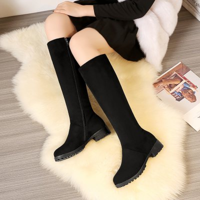 New Season Thick Low Warm Comfortable Leisure High BootsWomens Boots<br>New Season Thick Low Warm Comfortable Leisure High Boots<br><br>Boot Height: Knee-High<br>Boot Tube Circumference: 37<br>Boot Tube Height: 37<br>Boot Type: Fashion Boots<br>Closure Type: Zip<br>Gender: For Women<br>Heel Height: 3<br>Heel Height Range: Low(0.75-1.5)<br>Heel Type: Low Heel<br>Package Contents: 1 x Shoes (pair)<br>Pattern Type: Solid<br>Season: Winter<br>Toe Shape: Round Toe<br>Upper Material: Flock<br>Weight: 1.3440kg