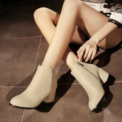 Side Zipper Heel Martin ShoesWomens Boots<br>Side Zipper Heel Martin Shoes<br><br>Boot Height: Mid-Calf<br>Boot Tube Circumference: 22<br>Boot Tube Height: 10<br>Boot Type: Riding/Equestrian<br>Closure Type: Zip<br>Gender: For Women<br>Heel Height: 5<br>Heel Height Range: Med(1.75-2.75)<br>Heel Type: Chunky Heel<br>Package Contents: 1 x Shoes (pair)<br>Pattern Type: Solid<br>Season: Winter<br>Toe Shape: Round Toe<br>Upper Material: Flock<br>Weight: 1.2320kg