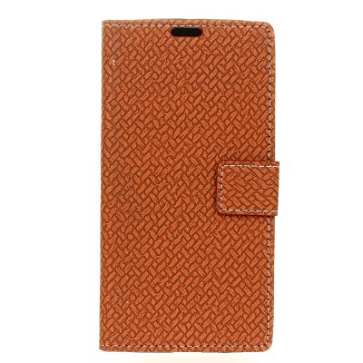 Buy BROWN Woven Pattern Texture Wallet Leather Stand Cover Phone Cases for iPhone X for $4.19 in GearBest store