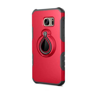 Case for Samsung Galaxy S7 Edge Metal Ring Holder Combo Phone Bag Luxury Shockproof