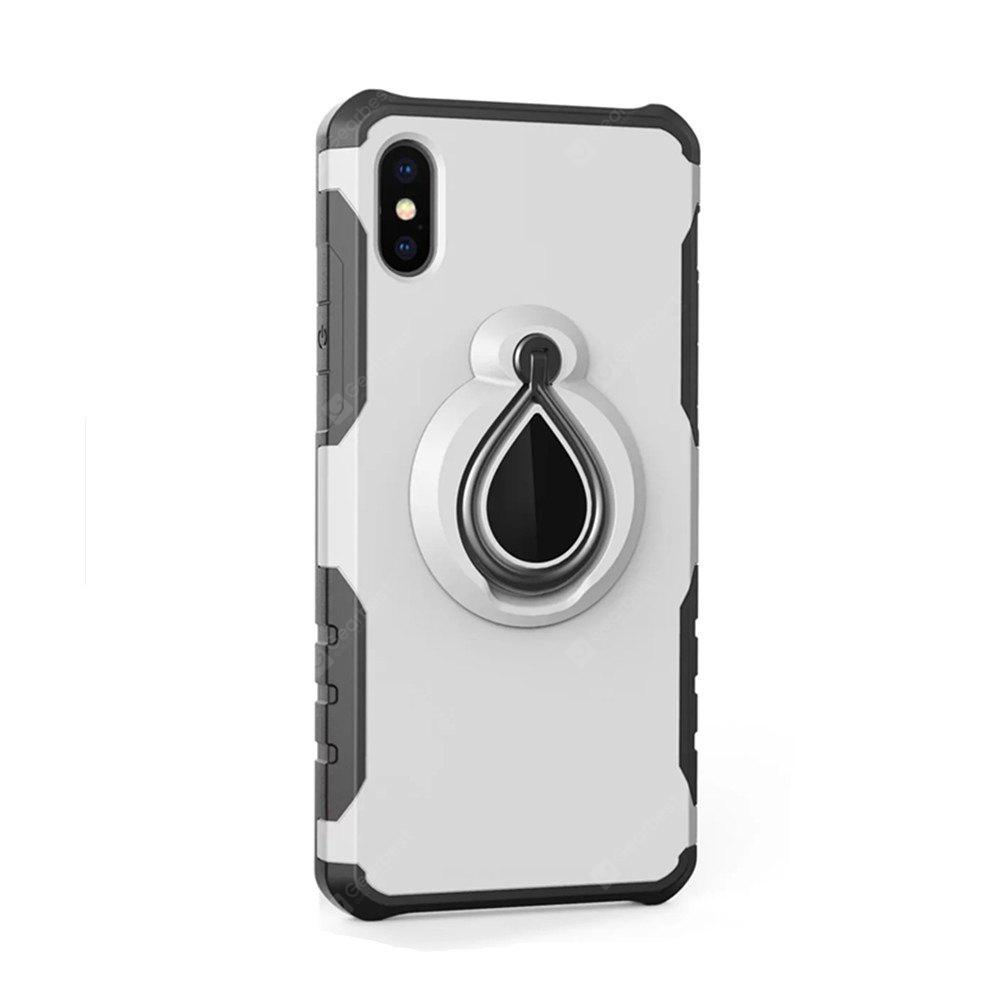 Custodia per iPhone X Metal Ring Holder Combo Luxury Shockproof Phone Cover