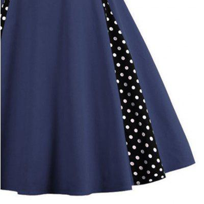 Women Stitched Together a Large Dress Plus SizeWomens Dresses<br>Women Stitched Together a Large Dress Plus Size<br><br>Dresses Length: Knee-Length<br>Elasticity: Micro-elastic<br>Fabric Type: Woolen<br>Material: Cotton, Cotton Blend<br>Neckline: V-Neck<br>Package Contents: 1xDress<br>Pattern Type: Print<br>Season: Spring, Summer, Fall, Winter<br>Silhouette: A-Line<br>Sleeve Length: Sleeveless<br>Style: Vintage<br>Weight: 0.3300kg<br>With Belt: No