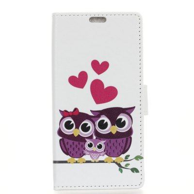 Painted Owl Pattern  Leather Cover Case for HTC U11 Plus