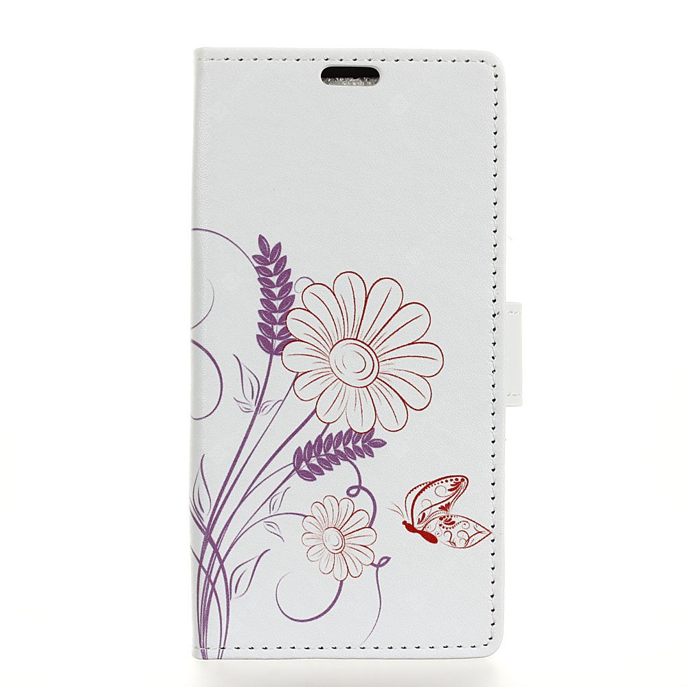 Painted Flower Pattern Leather Cover Case for HTC U11 Plus