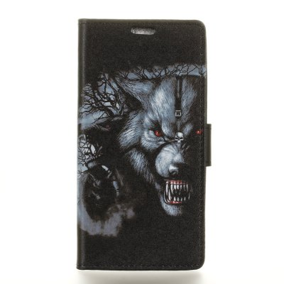 Wolf Painted  Pattern Leather Cover Case for HTC U11 Plus