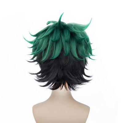 Short Green Color Halloween / Christmas Party Cosplay Wig for Men puella magi madoka magica tomoe mami gold short cosplay wig free two ponytails