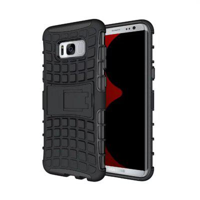 Buy BLACK Armor Heavy-duty Hybrid TPU Silicone Stand Holder Case Cover for Samsung Galaxy S8 for $4.46 in GearBest store