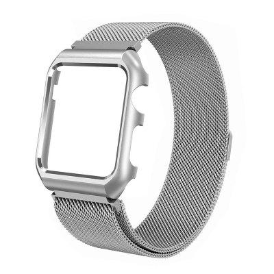 Milanese Loop with Stainless Steel Metal Case Magnetic Watch Strap for Apple Watch 38MM Series1/2