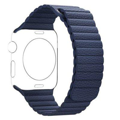 42MM Genuine Leather Loop Magnetic Watch Band for Apple Watch Series 3/ 2 /1