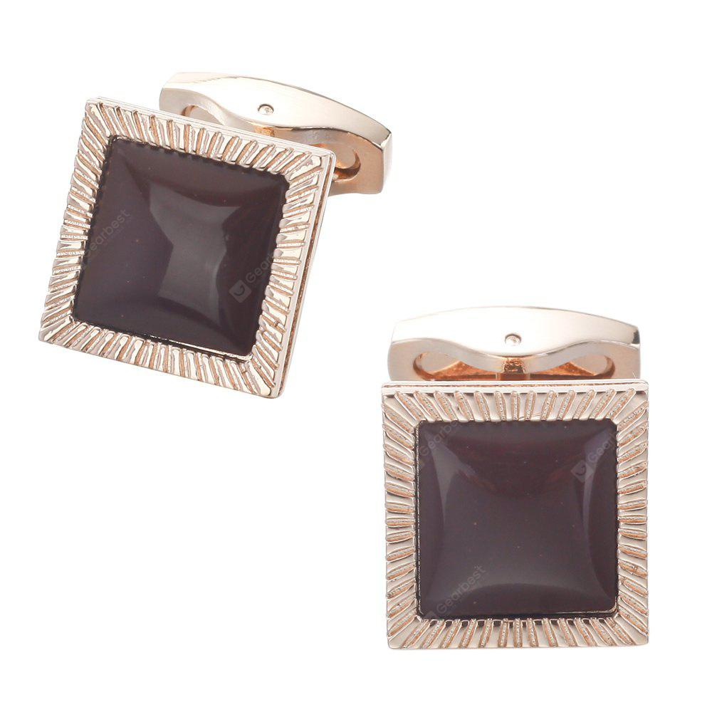 Ancient Stone Gemstones Golden Cufflinks Cuff Links