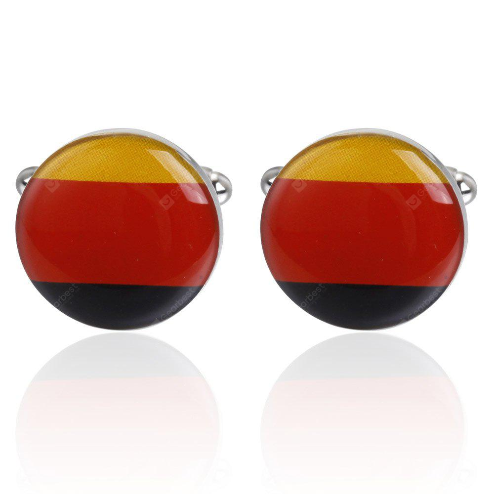 High Quality German Flag Pattern Cufflinks Cuff Links