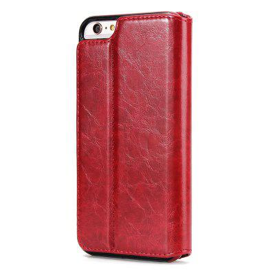 Two In One Split Stone Pattern PU Leather Case for iPhone 6 Plus / 6S Plus wallet leather protective case for iphone 6s plus 6 plus feather pattern