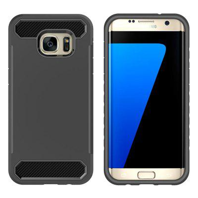 Carbon Fiber 2 In 1 Soft Tpu Protector Phone Case for Samsung Galaxy S7 Edge