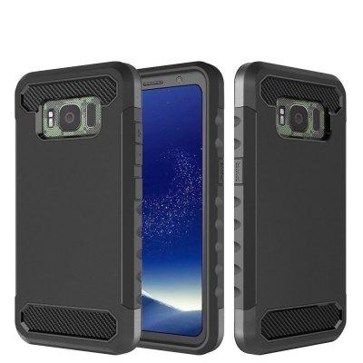 Carbon Fiber 2 In 1 Soft Tpu Protector Phone Case for Samsung Galaxy S8 Active