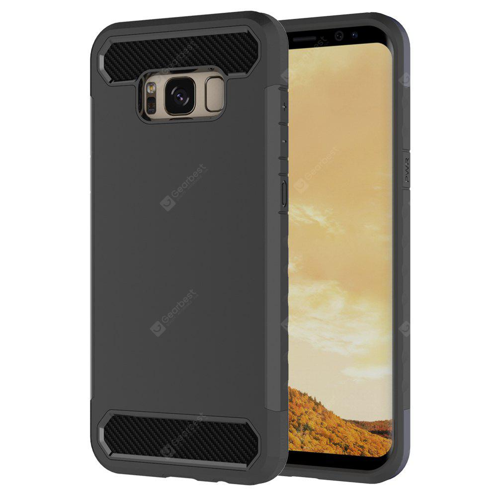 Carbon Fiber 2 In 1 Soft Tpu Protector Phone Case for Samsung Galaxy S8