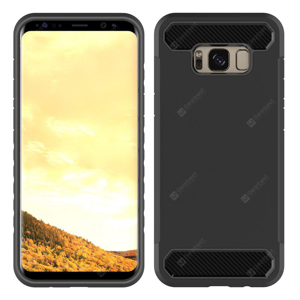 Carbon Fiber 2 In 1 Soft Tpu Protector Phone Case for Samsung Galaxy S8 Plus