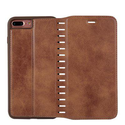 Ladder Series PU Leather Wallet Case for iPhone 7 PlusiPhone Cases/Covers<br>Ladder Series PU Leather Wallet Case for iPhone 7 Plus<br><br>Features: With Credit Card Holder<br>Material: PU Leather<br>Package Contents: 1 x Phone Case<br>Package size (L x W x H): 20.00 x 20.00 x 5.00 cm / 7.87 x 7.87 x 1.97 inches<br>Package weight: 0.0500 kg<br>Product weight: 0.0300 kg<br>Style: Vintage, Solid Color