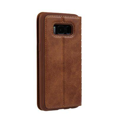 Ladder Series PU Leather Wallet Case for Samsung Galaxy S8Samsung S Series<br>Ladder Series PU Leather Wallet Case for Samsung Galaxy S8<br><br>Features: With Credit Card Holder<br>Material: PU Leather<br>Package Contents: 1 x Phone Case<br>Package size (L x W x H): 20.00 x 20.00 x 5.00 cm / 7.87 x 7.87 x 1.97 inches<br>Package weight: 0.0500 kg<br>Product weight: 0.0300 kg<br>Style: Vintage, Solid Color