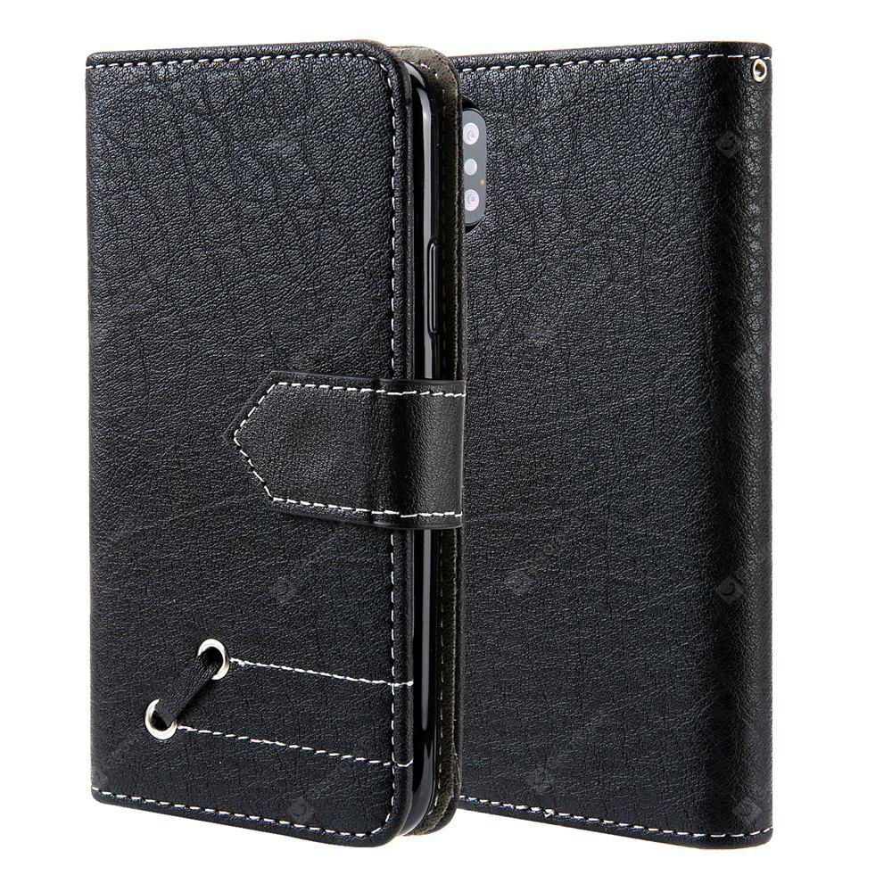 Vintage Small Hit Color PU Leather Wallet Case para iPhone X