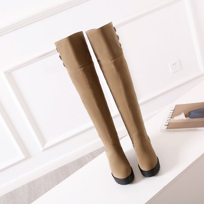 New Fashion Increased Over The Knee BootsWomens Boots<br>New Fashion Increased Over The Knee Boots<br><br>Boot Height: Over-the-Knee<br>Boot Type: Fashion Boots<br>Closure Type: Slip-On<br>Gender: For Women<br>Heel Type: Increased Internal<br>Package Contents: 1 x Shoes(pair)<br>Pattern Type: Solid<br>Season: Winter, Spring/Fall<br>Toe Shape: Round Toe<br>Upper Material: Flock<br>Weight: 1.8304kg