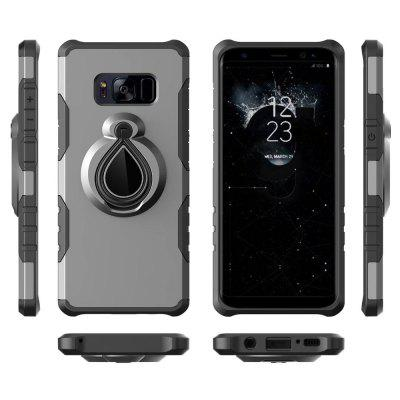 Raindrop Shape Hybrid Slim TPU Bumper 360 Degree Rotating Metal Ring Holder Kickstand Case for Samsung Galaxy S8Samsung S Series<br>Raindrop Shape Hybrid Slim TPU Bumper 360 Degree Rotating Metal Ring Holder Kickstand Case for Samsung Galaxy S8<br><br>Compatible with: Samsung Galaxy S8<br>Features: Back Cover, Cases with Stand, Anti-knock<br>Material: Metal, PC<br>Package Contents: 1 x Phone Case<br>Package size (L x W x H): 18.00 x 8.00 x 2.00 cm / 7.09 x 3.15 x 0.79 inches<br>Package weight: 0.0370 kg<br>Product weight: 0.0350 kg<br>Style: Transparent, Solid Color