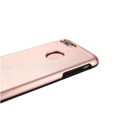 Metal Wiredrawing With Soft TPU Hybrid Shockproof Drop Protection Impact Rugged Hard Armor Case for iPhone 7 Plus / 8 PlusiPhone Cases/Covers<br>Metal Wiredrawing With Soft TPU Hybrid Shockproof Drop Protection Impact Rugged Hard Armor Case for iPhone 7 Plus / 8 Plus<br><br>Compatible for Apple: iPhone 7 Plus, iPhone 8 Plus<br>Features: Back Cover, Anti-knock<br>Material: PC<br>Package Contents: 1 x Phone Case<br>Package size (L x W x H): 18.00 x 8.00 x 2.00 cm / 7.09 x 3.15 x 0.79 inches<br>Package weight: 0.0350 kg<br>Product weight: 0.0320 kg<br>Style: Colorful, Solid Color