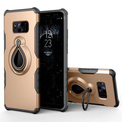 Raindrop Shape Hybrid Slim TPU Bumper 360 Degree Rotating Metal Ring Holder Kickstand Case for Samsung Galaxy S8 Plus