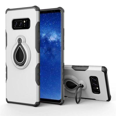 Raindrop Shape Hybrid Slim TPU Bumper 360 Degree Rotating Metal Ring Holder Kickstand Case for Samsung Galaxy Note 8