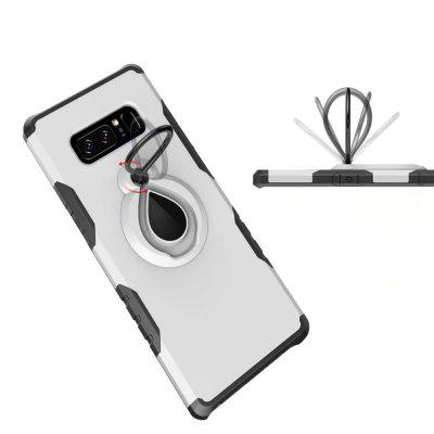 Raindrop Shape Hybrid Slim TPU Bumper 360 Degree Rotating Metal Ring Holder Kickstand Case for Samsung Galaxy Note 8Samsung Note Series<br>Raindrop Shape Hybrid Slim TPU Bumper 360 Degree Rotating Metal Ring Holder Kickstand Case for Samsung Galaxy Note 8<br><br>Compatible for Samsung: Samsung note 8, Samsung Galaxy Note 8<br>Features: Back Cover, Cases with Stand, Anti-knock<br>Material: PC, Metal<br>Package Contents: 1 x Phone Case<br>Package size (L x W x H): 18.00 x 8.00 x 2.00 cm / 7.09 x 3.15 x 0.79 inches<br>Package weight: 0.0370 kg<br>Product weight: 0.0350 kg<br>Style: Solid Color