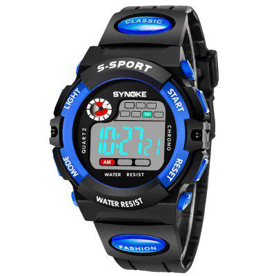 SYNOKE 99269 Sports Waterproof  Electronic WatchCouples Watches<br>SYNOKE 99269 Sports Waterproof  Electronic Watch<br><br>Band material: PU<br>Brand: Synoke<br>Case material: Plastic<br>Clasp type: Pin buckle<br>Display type: Digital<br>Movement type: Digital watch<br>Package Contents: 1 x Watch<br>Package size (L x W x H): 12.50 x 8.00 x 9.00 cm / 4.92 x 3.15 x 3.54 inches<br>Package weight: 0.0438 kg<br>Shape of the dial: Round<br>Special features: Stopwatch, Luminous, Date, Alarm Clock<br>The female dial dimension (L x W x H): 3.862 x 3.862 x 1.602cm<br>The female size (L x W x H): 23 x 3.862 x 1.602cm<br>The female watch band dimension (L x W): 23 x 1.601cm<br>The female watch weight: 0.0297kg<br>The male dial dimension (L x W x H): 4.349 x 4.349 x 1.699cm<br>The male watch band dimension (L x W): 24.5 x 1.8cm<br>The male watch size (L x W x H): 24.5 x 4.349 x 1.699cm<br>The male watch weight: 0.0371kg<br>Watch mirror: Acrylic<br>Watch style: Trends in outdoor sports<br>Watches categories: Couple tables<br>Water resistance: 30 meters