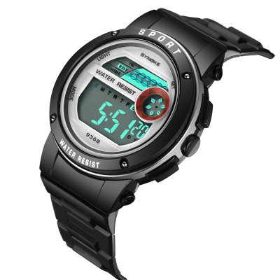 SYNOKE 9368 Multifunctional Waterproof Student Movement WatchKids Watches<br>SYNOKE 9368 Multifunctional Waterproof Student Movement Watch<br><br>Band material: PU<br>Band size: 22.6 x 1.91cm<br>Brand: Synoke<br>Case material: ABS<br>Clasp type: Pin buckle<br>Dial size: 4.296 x 4.296 x 1.43cm<br>Display type: Digital<br>Movement type: Digital watch<br>Package Contents: 1 x Watch<br>Package size (L x W x H): 12.50 x 8.00 x 9.00 cm / 4.92 x 3.15 x 3.54 inches<br>Package weight: 0.0382 kg<br>Product size (L x W x H): 22.60 x 4.30 x 1.43 cm / 8.9 x 1.69 x 0.56 inches<br>Product weight: 0.0315 kg<br>Shape of the dial: Round<br>Special features: Alarm Clock, Luminous, Stopwatch, Date<br>Watch mirror: Acrylic<br>Watch style: Trends in outdoor sports<br>Watches categories: Children table<br>Water resistance: 30 meters